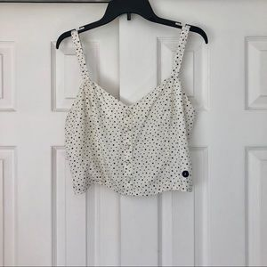Abercrombie & Fitch Crop Top Stars Large
